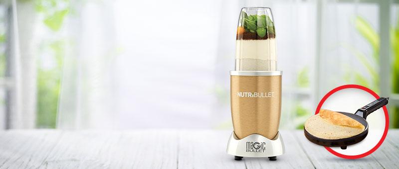 Вкусно и здраво - Nutribullet Gold со ПОДАРОК Апарат за палачинки