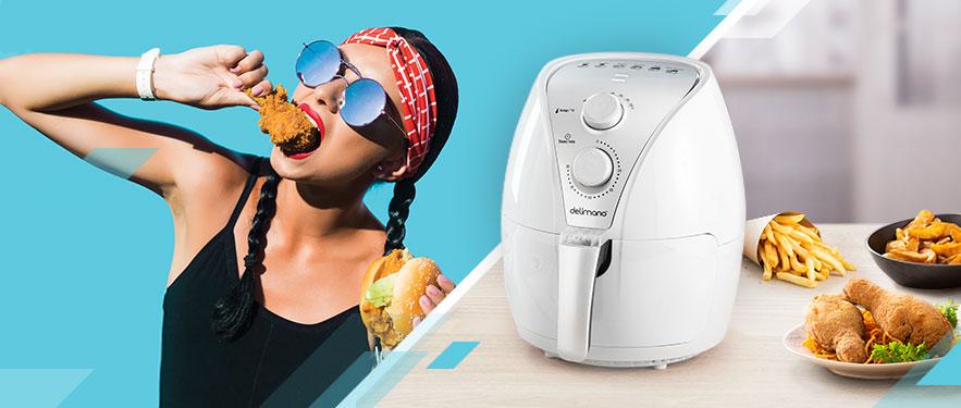 Air Fryer Апарат со бела боја
